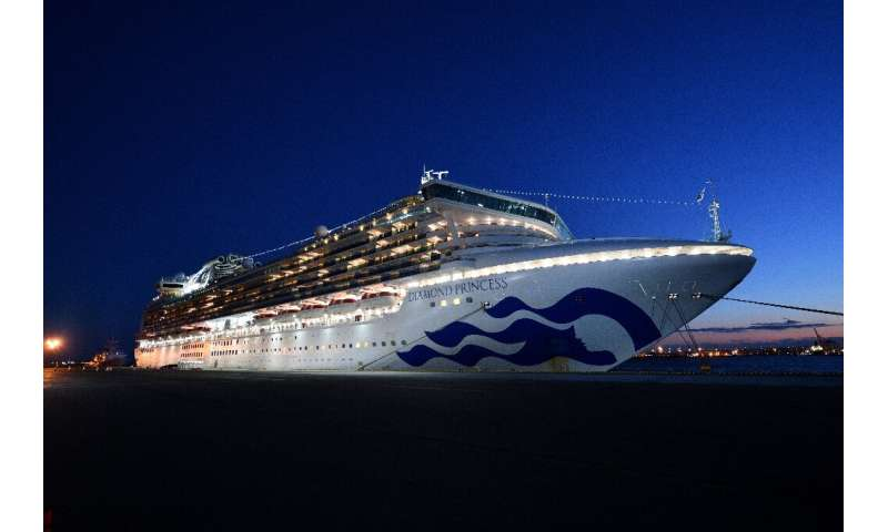 At least 20 people on board the Diamond Princess cruise ship, pictured at anchor in Yokohama, Japan, have tested positive for th