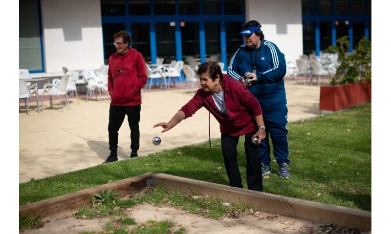 At Salou's Piramide Hotel, just a few guests could be seen playing petanque in the grounds