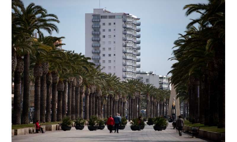 At this time of year, the resort town of Salou on the Costa Dorada is normally full of older Spanish tourists