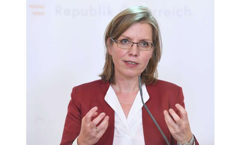 Austrian Environment Minister Leonore Gewessler, pictured April 2020, hailed the budget for greening the country's rail network