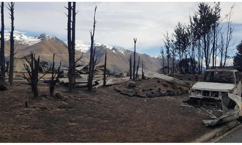 A wildfire erupted in a mountain forest in the early hours of Sunday morning and swept through the popular Lake Ohau tourist spo