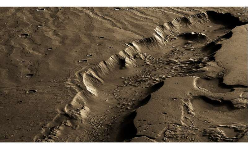 Best region for life on Mars was far below surface