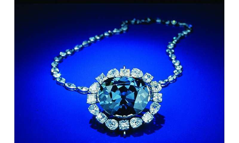 "Both the famous Hope diamond and British Crown Jewel diamonds, may be ""super-deep"""