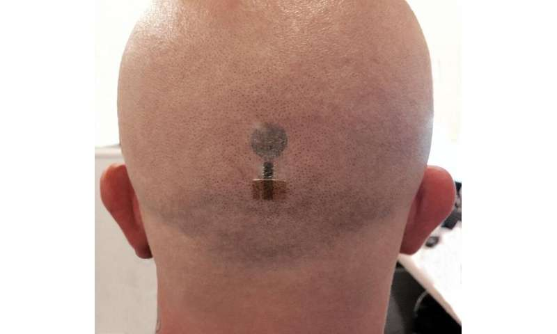 Brain signal measurement using printed tattoo electrodes