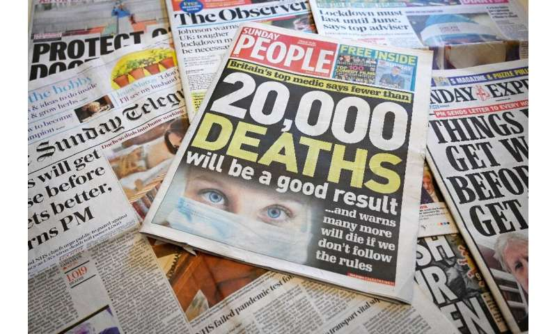 Britain's culture secretary Oliver Dowden has warned the news industry could lose £50 million during the crisis, particularly as