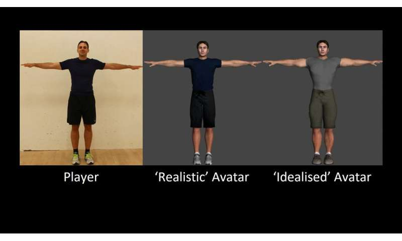 Buffed-up avatars deter us from exercising hard