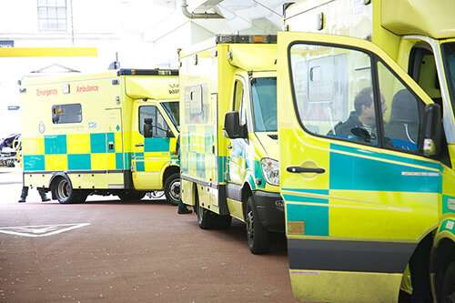 Calculating early warning scores before they reach hospital can help the sickest patients