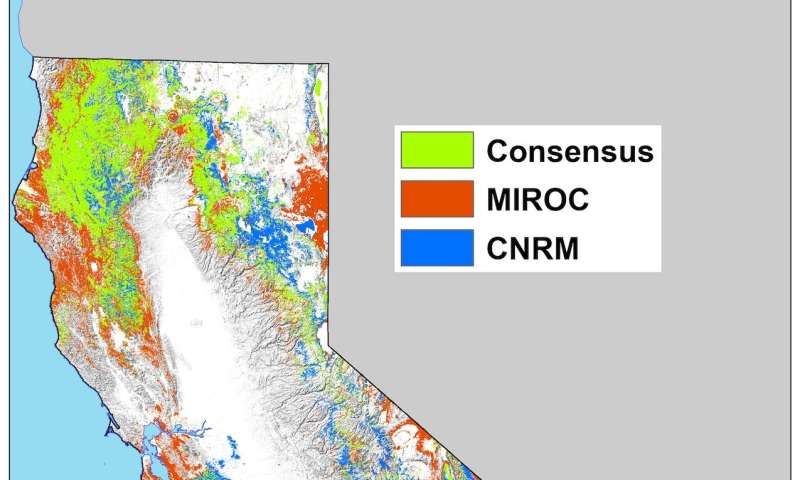 California's climate refugia: Mapping the stable places