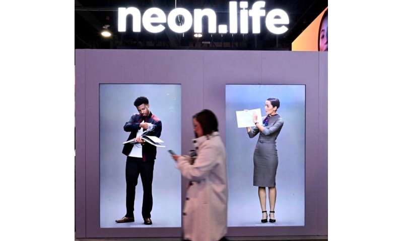 CES: Buzzy NEON startup builds 'artificial humans' that resemble bankers, fashion models