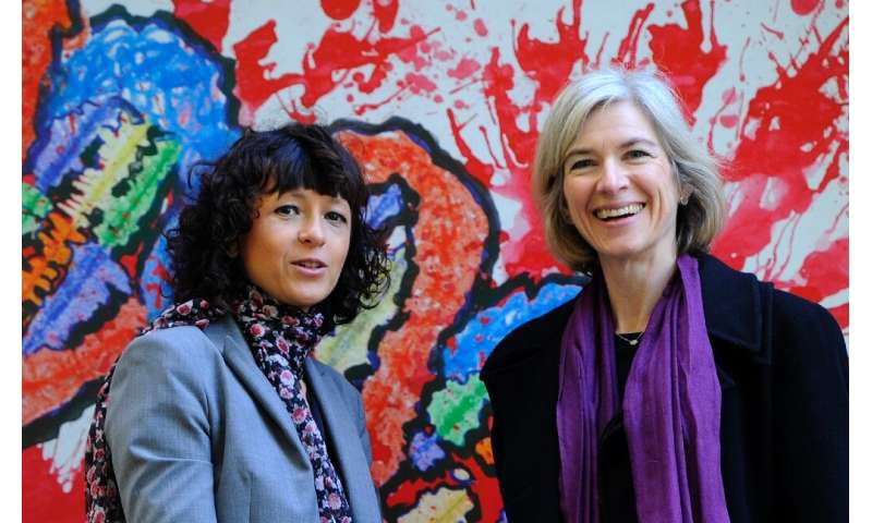 Charpentier (L) and Doudna (R) are the first all-woman team to receive a Nobel science prize