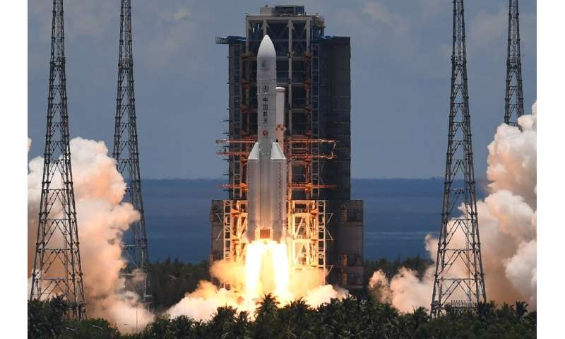 China's ambitious Tianwen-1 Mars mission lifted off from the southern island of Hainan
