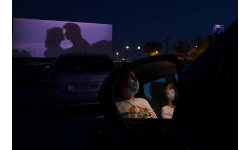 "Cinemagoers in Spain enjoyed a drive-in, socially-distanced screening of ""Grease"""