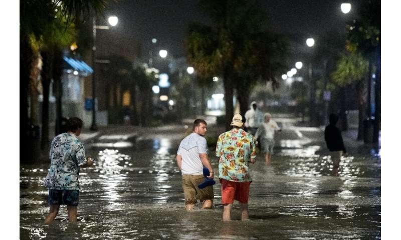 Coastal areas in Southern Carolina were underwater as the hurricane hit