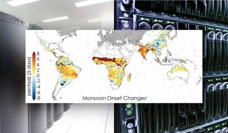 Computing collaboration reveals global ripple effect of shifting monsoons