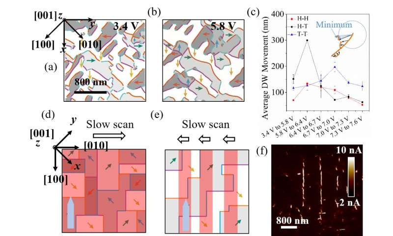 Controllable functional ferroelectric domain walls under piezoresponse microscope