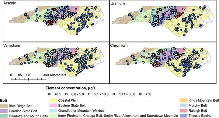 Co-occurring contaminants may increase NC groundwater risks