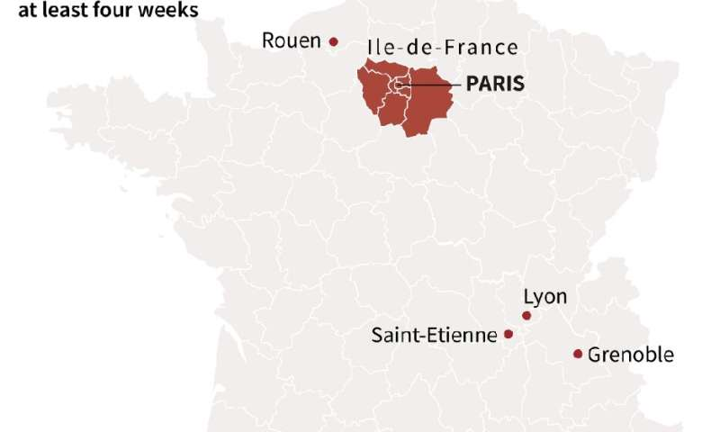 Covid-19: Paris, 8 other French cities under curfew