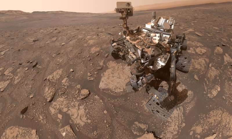 Curiosity takes selfie with 'Mary Anning' on the red planet