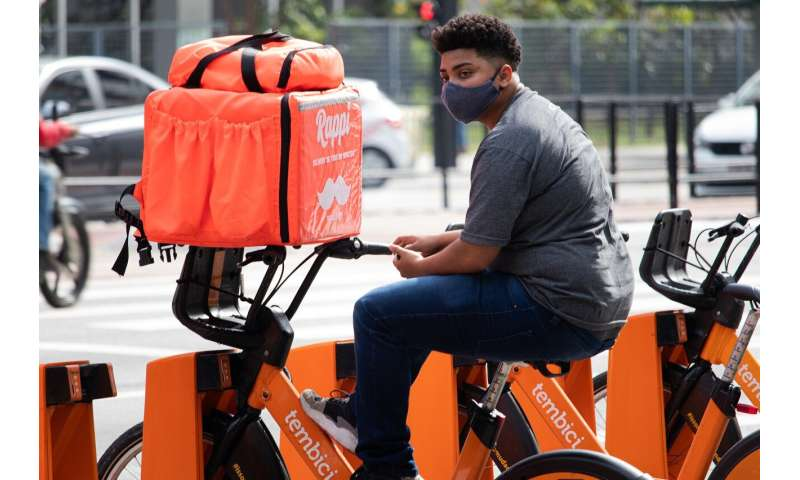 delivery cyclist