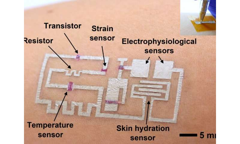 'Drawn-on-skin' electronics offer breakthrough in wearable monitors