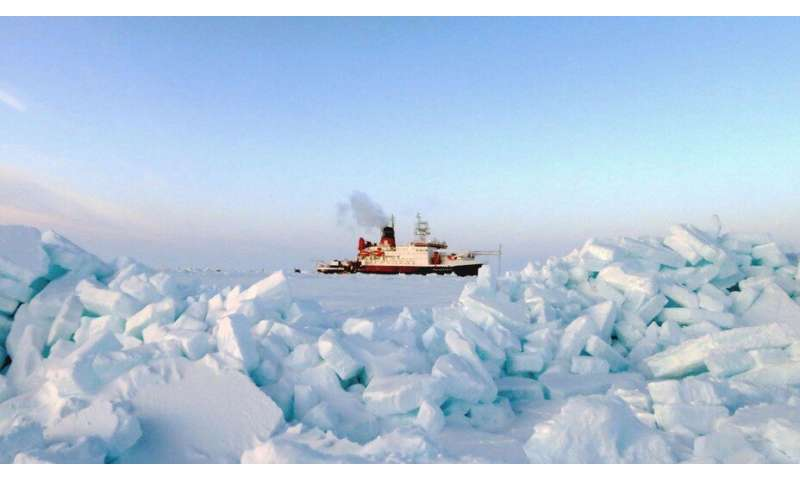 Drifting through the ice on board a polar climate research vessel