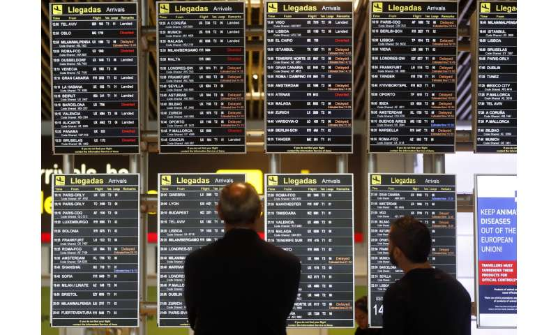 Drone sighting disrupts air traffic at Madrid airport