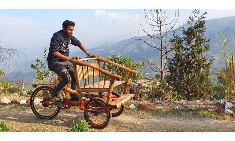 Eco-bike aims to cut pollution in Kathmandu