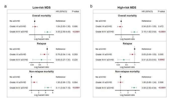 Effects of acute and chronic graft-versus-myelodysplastic syndrome on long-term outcomes following a