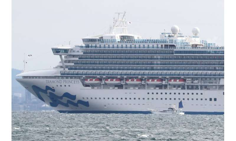 Eight people on the Diamond Princess cruise ship, which arrived at Yokohama Bay, have symptoms such as fever and quarantine offi