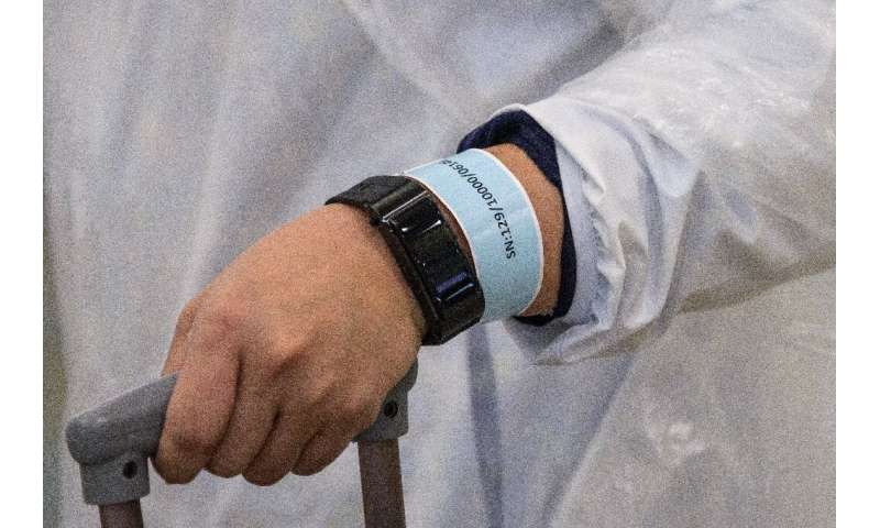 Electronic wristbands have been used to follow people placed under home quarantine