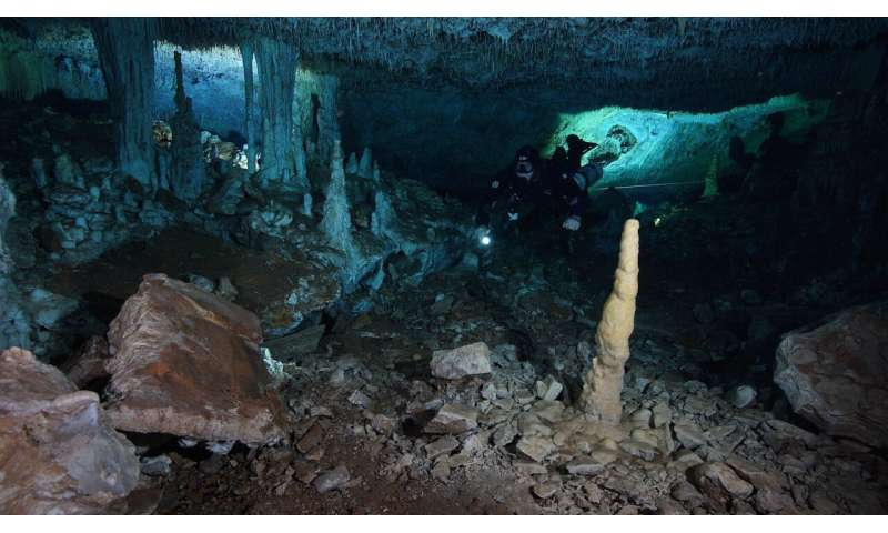 Experts find early ocher mine in Mexican underwater caves