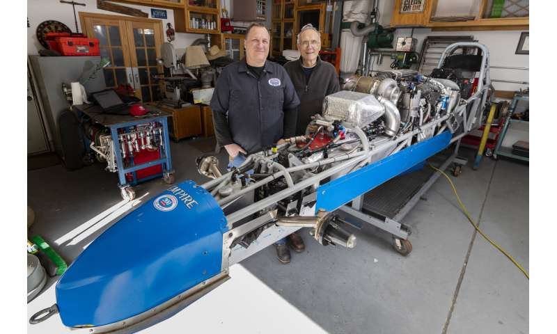 Father, son bond over engineering a record-smashing roadster