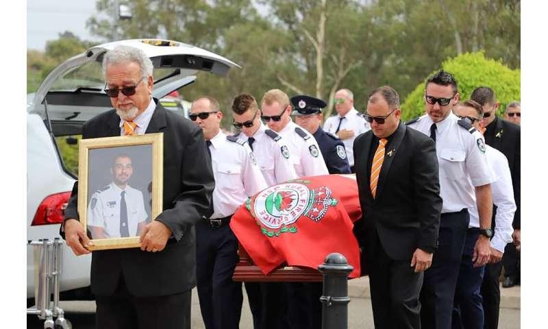 Firefighter Andrew O'Dwyer died battling blazes in late December