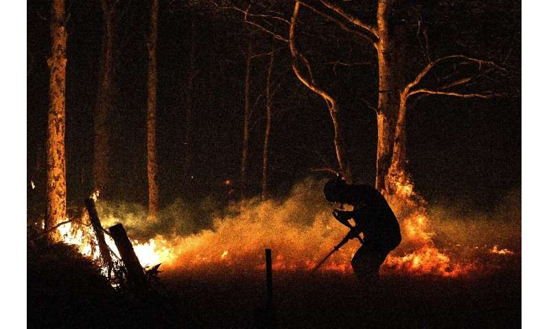 Firefighters—many of them volunteers—are working around the clock to save people and property