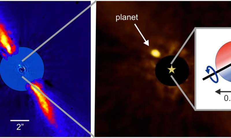 First measurement of spin-orbit alignment on planet Beta Pictoris b