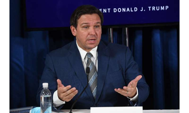 Florida Governor Ron DeSantis says his state is prepared for the arrival of Isaias