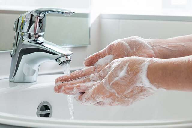 For washing your hands, is it more effective to use soap and water or an alcohol-based sanitizer?