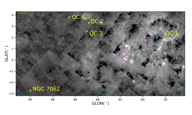 Four new open clusters detected in the Cygnus Cloud