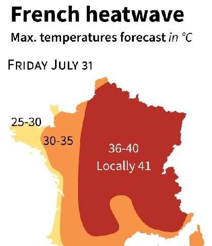 France heatwave warnings