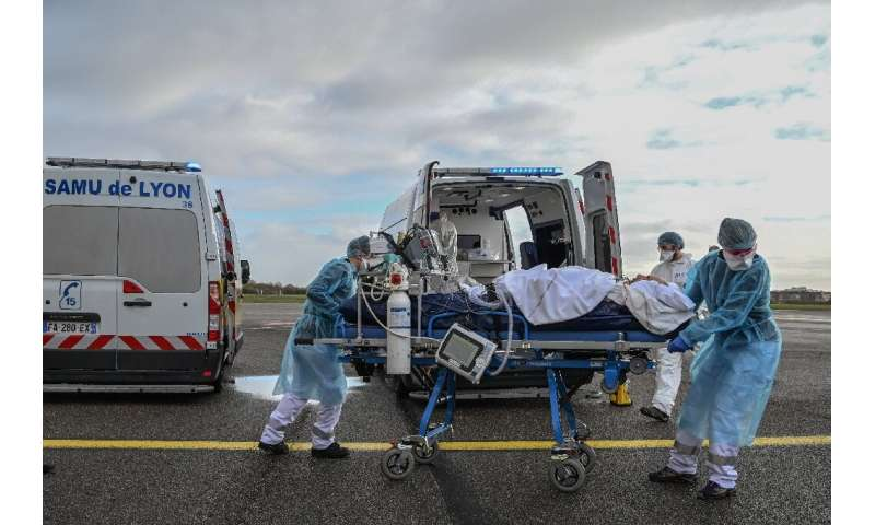 France is using aircraft to transfer patients between hospitals amid its new wave of cases