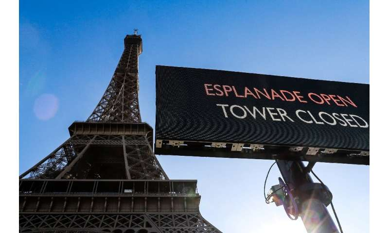France, the world's most visited country, closed the Eiffel Tower and the Louvre over what President Emmanuel Macron called &quo