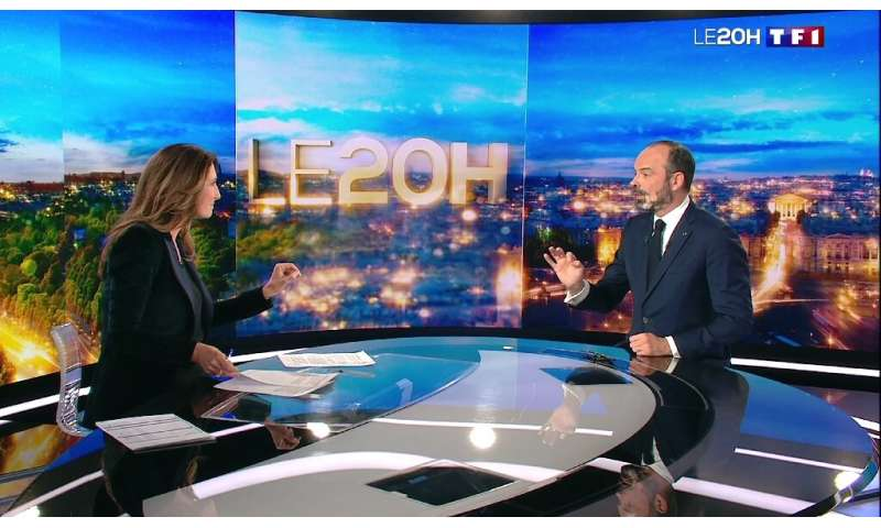 French televison channel TF1 put one third of its staffe on partial unemployment in April