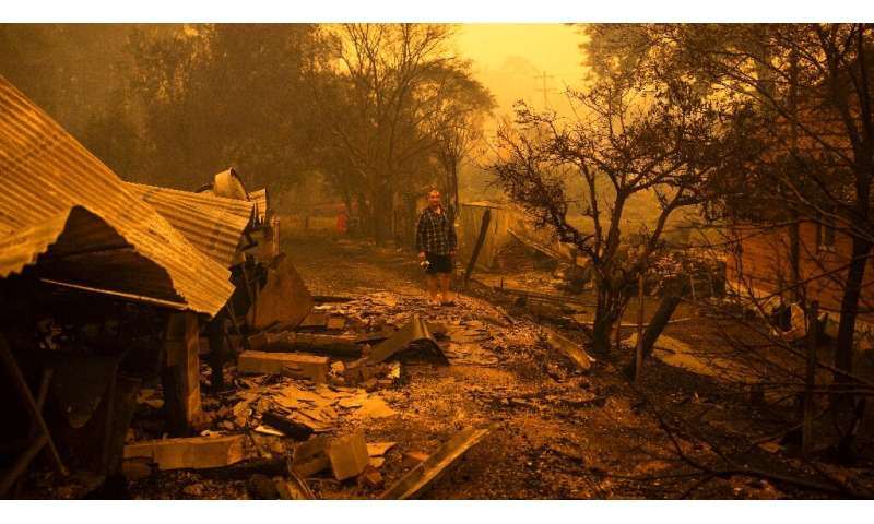 Gary Hinton was among those who fled the New South Wales town of Cobargo as fires raced through. He returned to a scene of devas