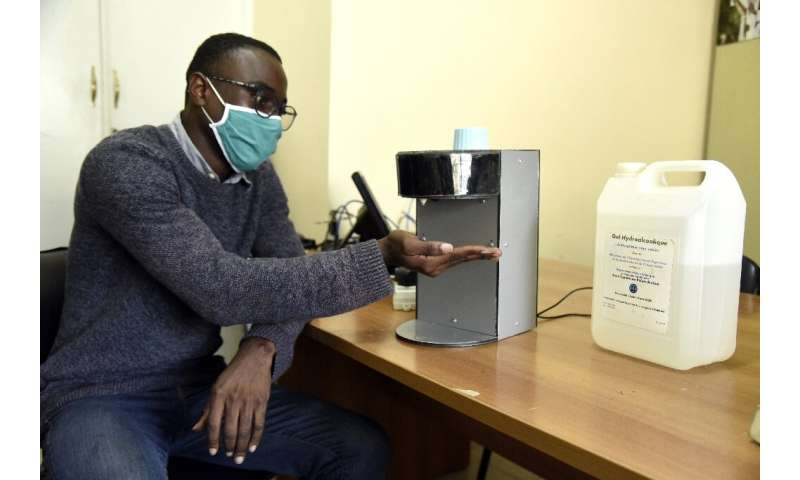 """Gianna Andjembe is working on an automatic sanitiser dispenser and says """"we have to meet the challenges and really take our"""