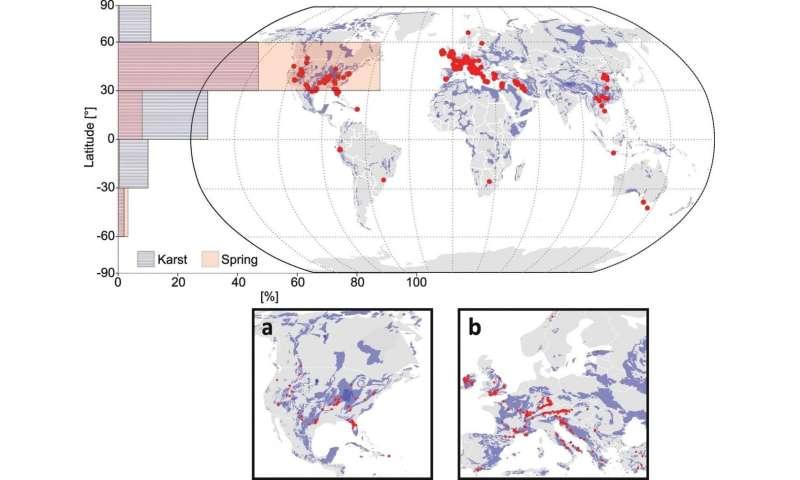 Global database for Karst spring discharges