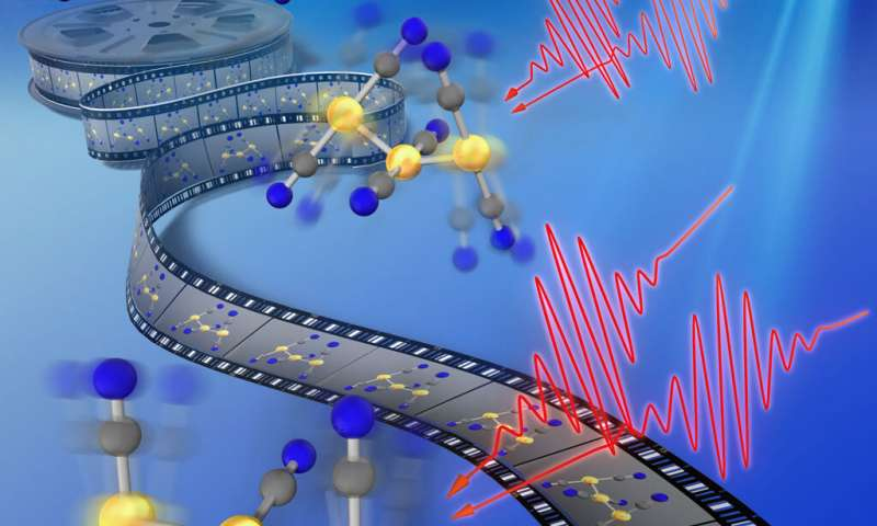 Gold bond formation tracked in real time using new molecular spectroscopy technique