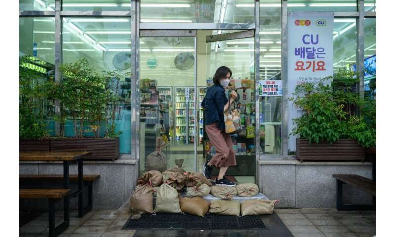 Heavy downpours have been forecast by South Korea's Meteorological Administration
