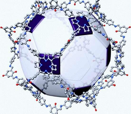 Hollow porphyrinic nanospheres