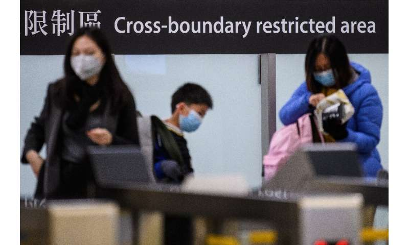 Hong Kong, which has eight reported cases of the SARS-like disease, has announced the sealing of six of its 14 border crossings