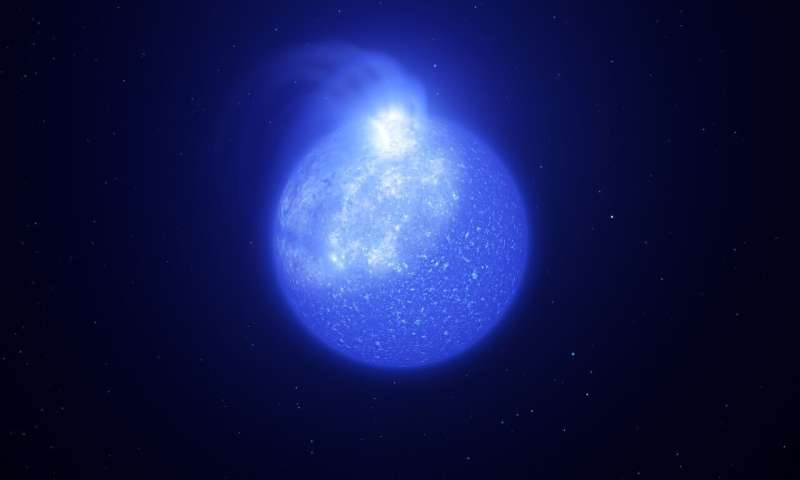 Hot stars are plagued by giant magnetic spots, ESO data shows